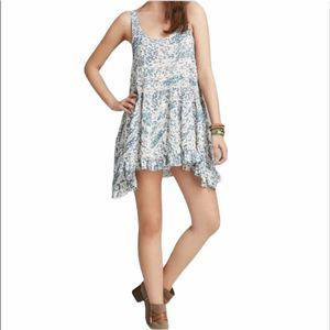 Free people voile & lace floral trapeze sl…